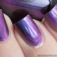 Peace (H) - Blue, Purple, Fuchsia, Pink, Gold Ultra Chrome Color Shifting Holographic Nail Polish
