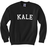 Kale inspired by Bey Unisex Crewneck Sweatshirt Jumper Beyonce Black Grey White Yonce Clap Fashion Style Men Women Comfy Vegan Shred 7/11