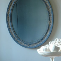 Vintage Restored Antique Lace Mirror - GHOST FURNITURE ACCESSORIES