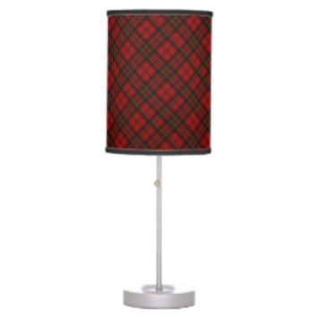 Adorable Red Christmas tartan Desk Lamp