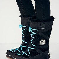 Sorel Womens Glacy Explorer Tall Weather Boot - Black
