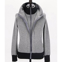 Men New Style Autumn Sport Casual Pattern Long Sleeve Grey Cotton Hoodie M/L/XL@Q10g $17.69 only in eFexcity.com.