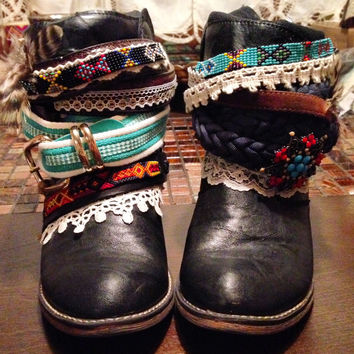"""The """"Sarah"""" - Custom Upcycled Leather Cowboy Boots"""