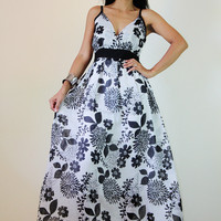 Floral Maxi Dress Black And White S.. on Luulla