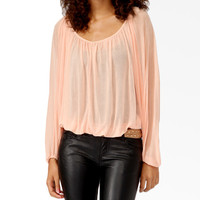 Surplice Cutout Blouse