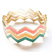 Chevron Bangles | Paizlee
