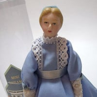 Miniature Doll House Mother Porcelain figure 6 inch Victorian era style