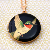The Hummingbird Locket Necklace