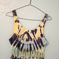 Tie Dyed and Fringed Tank