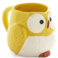 Owl Warm and Cozy Mug in Yellow | Mod Retro Vintage Kitchen | ModCloth.com