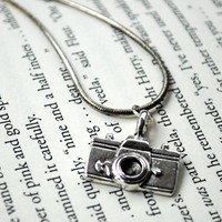Camera Necklace Silver