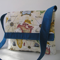 Messenger Bag in map design