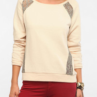 Silence &amp; Noise Lace Inset Sweatshirt