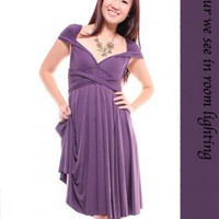 MLB's Convertible Dress – Plum Purple