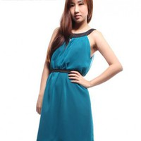 MLB's Contrast Keyhole Dress – Teal