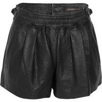 ISABEL MARANT Abon textured-leather shorts
