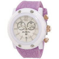 Glam Rock Women's GD1109-DMC Miami Beach Chronograph White Dial Lilac Silicone Watch - designer shoes, handbags, jewelry, watches, and fashion accessories | endless.com