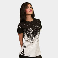 Pixel Rain T-shirt by StevenToang from Design By Humans