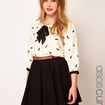 ASOS CURVE Exclusive Shirt In Dog Print at asos.com