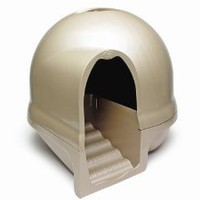 Booda Dome Cleanstep Cat Box, Titanium: Pet Supplies