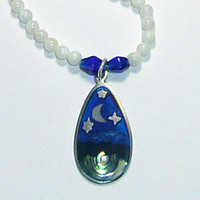 Stars and Crescent and Mother of Pearl Necklace