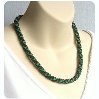 Bead Crochet Rope Necklace / £42