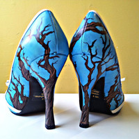 Hand painted high heels women&#x27;s size 8