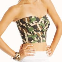 camo-print-bustier GREENCAMEL - GoJane.com