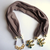 2012 Spring trends mink jersey  scarf, Women accessory