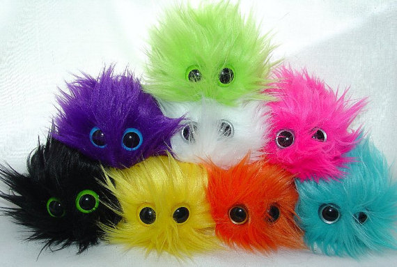 Adopt a MINI MONSTER BARF any furry and fluffy monster your color choice They come in their very own mini monster barf bag