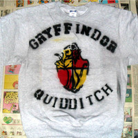 SALE Grey Gryffindor Quidditch Crewneck Sweater (Sizes: S / M / L)