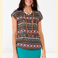 Tribal Sunset Blouse