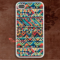 iPhone 4 Case, iPhone 4s Case, iPhone 4 Hard Case, Aztec Pattern iPhone Case