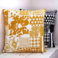 Peris & Corr ? Organic Patchwork Print Cushion