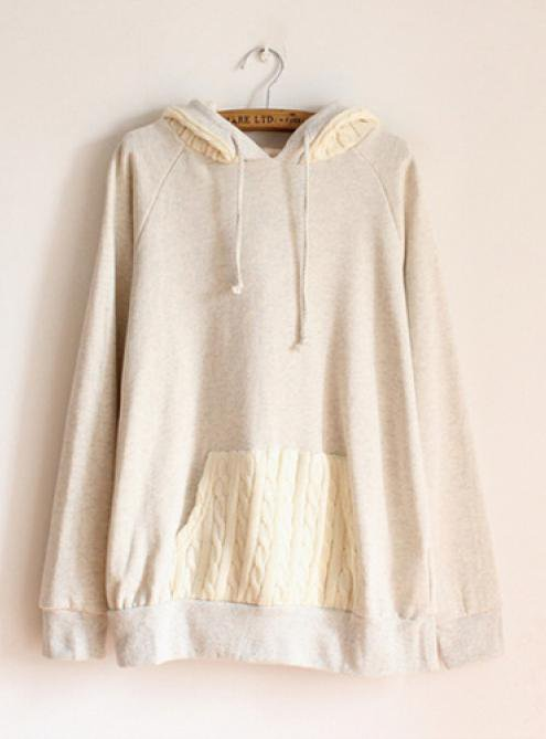 Hooded Sweater Pocket Sweatshirt$42.00
