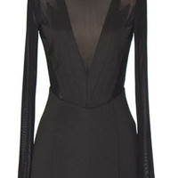 Triangle Mesh Black Dress