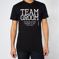 Team Groom - Personalized - Cotton Men&#x27;s Standard T-Shirt - FREE SHIPPING