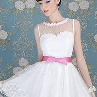 Lace Star Prom Dress