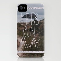 Let's Run Away V iPhone Case by Leah Flores | Society6