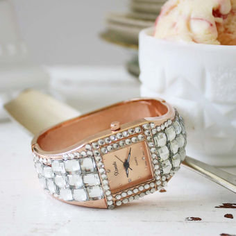 Rose Gold & Glitter Watch, Women's Sweet Country Inspired Jewelry