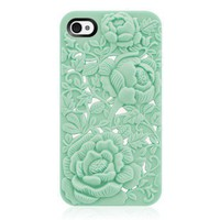 Unique Design Rose Embossing Case for iPhone 4/4S