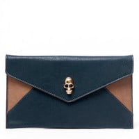 Envelope Skull Clutch $29