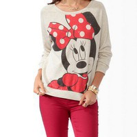 Distressed Minnie Mouse Pullover