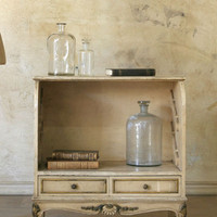 SOLD Antique Shoe Cupboard in Cream with Louis XV Legs - &amp;#36;695 - The Bella Cottage