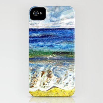 CRAYON LOVE - La mer iPhone Case by Stephanie Köhl | Society6