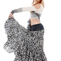 Star pattern long skirt, high end fluffy material, perfect for any outfit