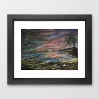CRAYON LOVE: Ermahgerd! HOLY MACKEREL CRAYON SUNSET! Framed Art Print by RokinRonda | Society6