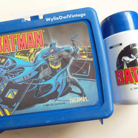 Vintage Batman Lunchbox and Thermos 1991