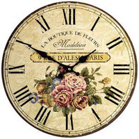 Rue D'Alesia Paris Wall Clock, 34cm