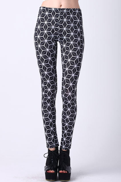 Geometric Patterning Leggings [ALYD0015] - $23.99 :